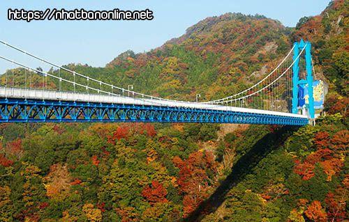 Cầu treo lớn Ryujin - tỉnh Ibaraki Nhật Bản