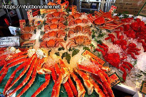 Chợ hải sản Nijo - tỉnh Hokkaido Nhật Bản