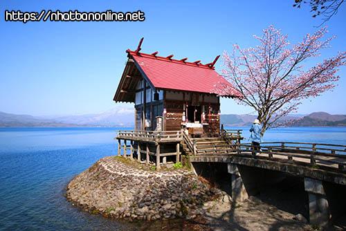 Đền Kansa-gu (đền Ukigi) - tỉnh Akita Nhật Bản