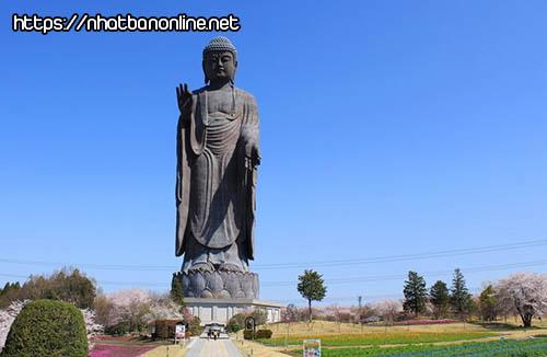 Tượng phật Ushiku Daibutsu - tỉnh Ibaraki Nhật Bản