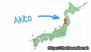 Vị trí tỉnh Akita Japan