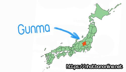 Vị trí tỉnh Gunma Japan