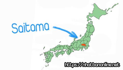 Vị trí tỉnh Saitama Japan
