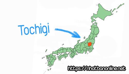 Vị trí tỉnh Tochigi Japan