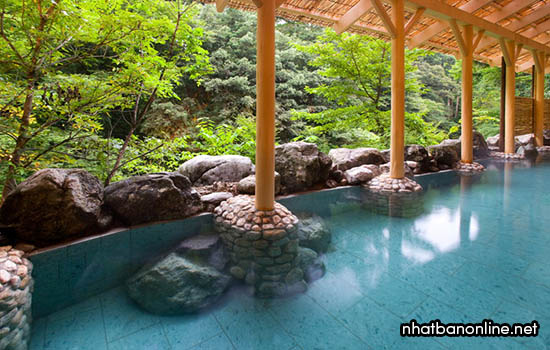 Suối nước nóng Yamanaka - tỉnh Ishikawa Japan