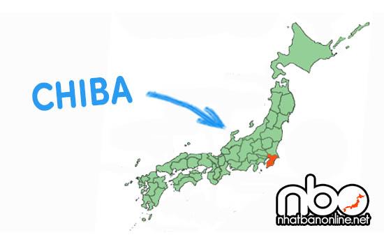 Vị trí của tỉnh Chiba Nhật Bản