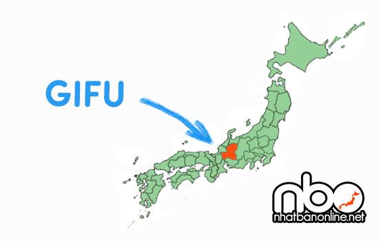 Vị trí của tỉnh Gifu Japan