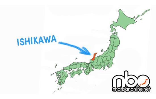 Vị trí của tỉnh Ishikawa Japan