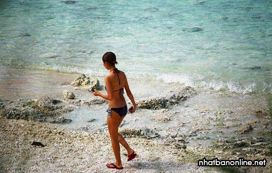 Bãi biển Nakanoshima - tỉnh Okinawa Nhật Bản