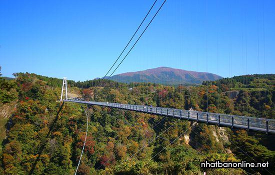 Cầu treo Kokonoe - tỉnh Oita Japan