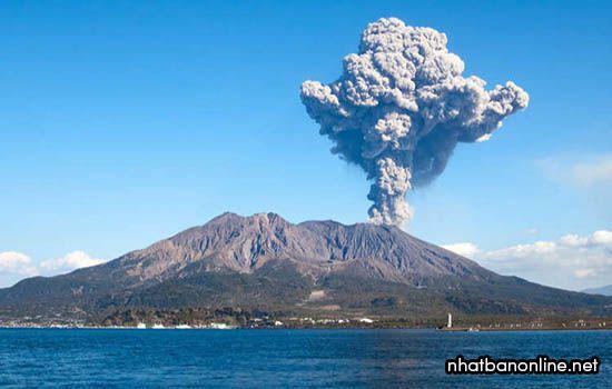 Núi lửa Sakurajima -tỉnh Kagoshima Japan