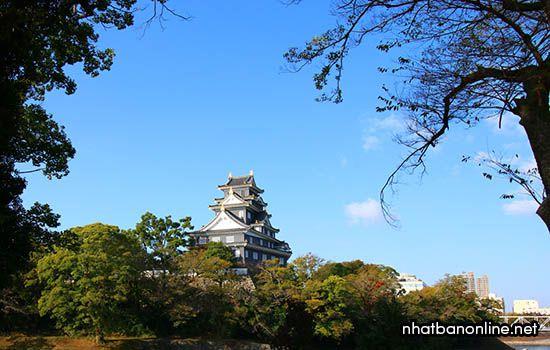Thành Okayama - tỉnh Okayama Japan