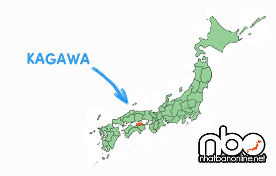 Vị trí của tỉnh Kagawa Japan