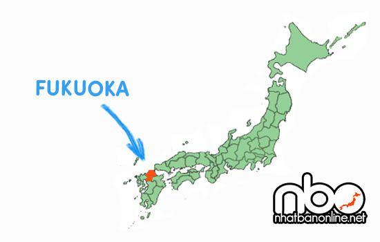 Vị trí tỉnh Fukuoka Nhật Bản