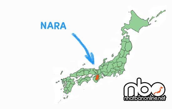 Vị trí của tỉnh Nara Nhật Bản