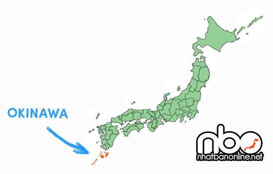 Vị trí tỉnh Okinawa Japan