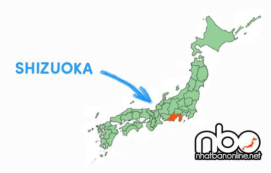 Vị trí của tỉnh Shizuoka Japan