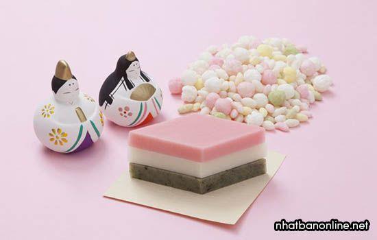 Các món bánh trong lễ hội Hina Matsuri