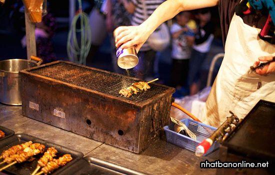 Yakitori - một trong những món ăn trong lễ hội Gion ở Kyoto