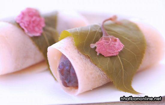 Sakura Mochi - Bánh mochi vị hoa anh đào
