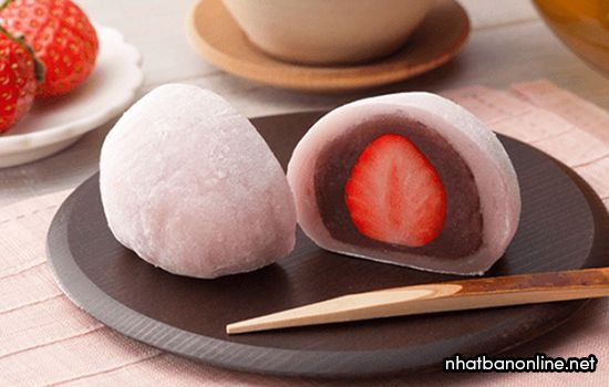 Bánh mochi Nhật Bản - Ichigo Daifuku Mochi