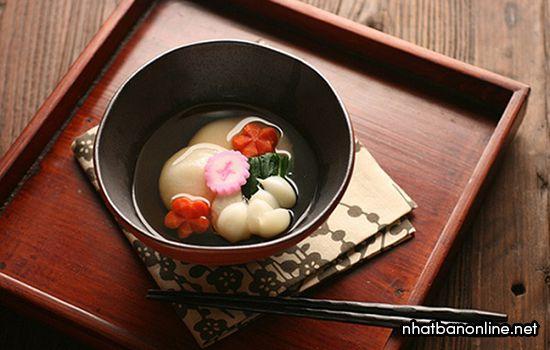 Bánh mochi Nhật Bản - Zoni Mochi