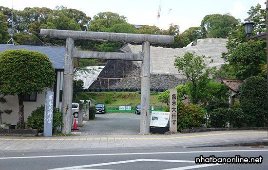 Lối vào khu vực thành Kumamoto