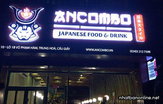 Nhà hàng Nhật Bản Ancombo - quán Nhật ngon ở Hà Nội