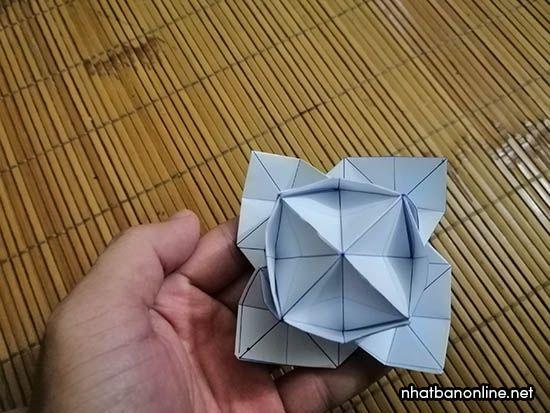 Cách gấp hoa hồng bằng giấy