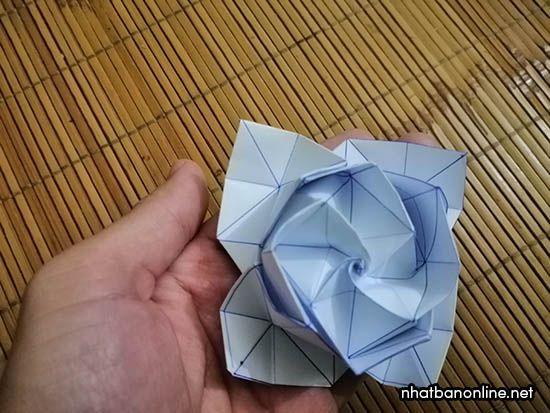 Cách gấp hoa hồng giấy Origami bằng giấy A4