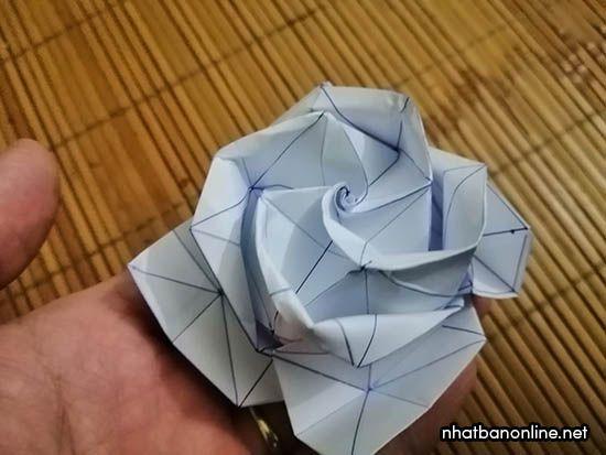 Cách gấp hoa hồng giấy Origami kiểu mới