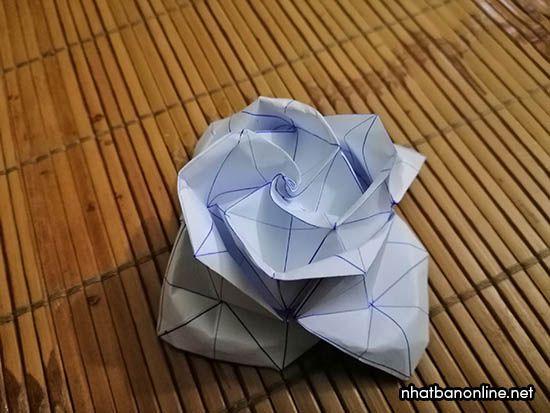 Cách gấp hoa hồng giấy Origami