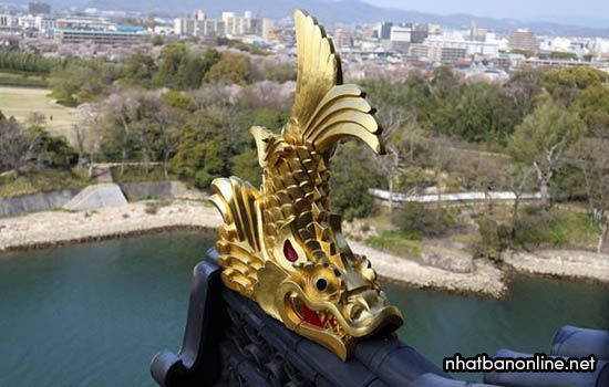 Cặp cá kình trên tòa lâu đài Nagoya