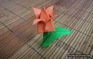 Cách gấp hoa Tulip