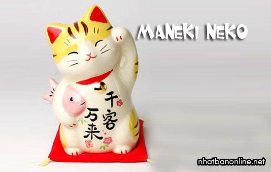 Mèo may mắn Maneki Neko, chú mèo thần tài ở Nhật Bản