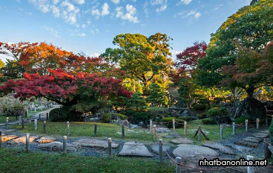 Khu vườn Ninomaru trong thành cổ Nagoya