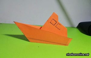Cách gấp thuyền chiến cực đơn giản