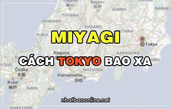 Miyagi cách Tokyo bao xa? Từ Tokyo đến Miyagi bao nhiêu km
