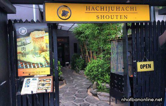 Nhà hàng HachiJuHachi Shouten - quán Nhật ngon ở Hà Nội