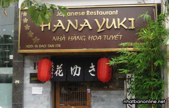 Nhà hàngHanayuki - quán Nhật ngon ở Hà Nội