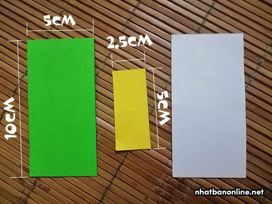 Chuẩn bị giấy theo kích thước nhé