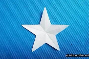 Cách cắt ngôi sao 5 cánh cân đối, chuẩn, đẹp, dễ làm