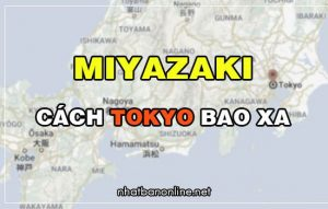 Miyazaki cách Tokyo bao xa? Từ Tokyo đến Miyazaki bao nhiêu km