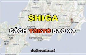 Shiga cách Tokyo bao xa? Từ Tokyo đến Shiga bao nhiêu km