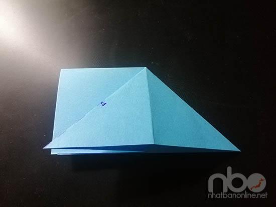 Cách gấp con cá đuối bằng giấy