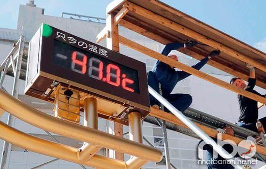 Nhiệt độ cao nhất ở Nhật Bản