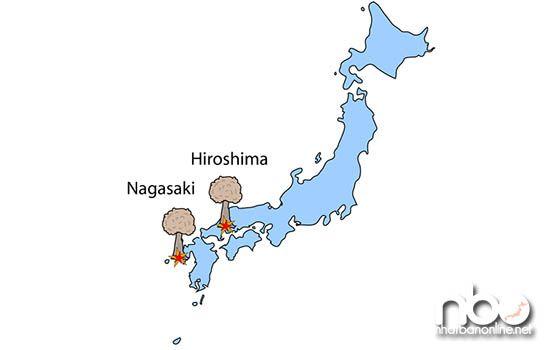 Vị trí của thành phố Nagasaki trên bản đồ nước Nhật